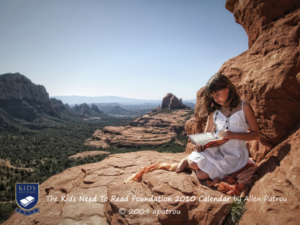 Arizona Browncoats now proudly sponsoring Kids Need To Read 2009 Calendar which features, so it seems, images of children reading in pretty locales.