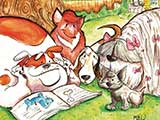 <em>Paw-sing to Share a Good Book</em> &copy; Mike Woodcock
