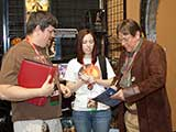 Arizona Browncoats David Richins, Jennifer Anderson, and Patrick Kelch conduct the Browncoat Scavenger Hunt, benefiting KNTR. © Bruce Matsunaga